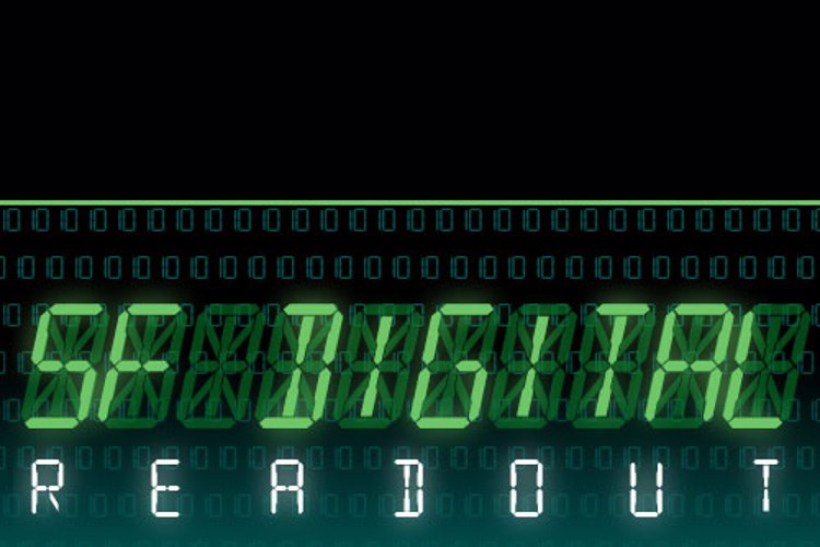 SF Digital Readout Font