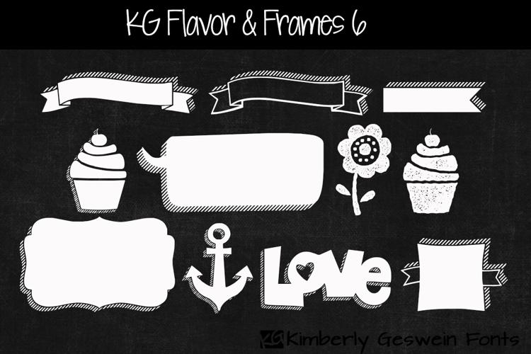KG Flavor And Frames Six Font