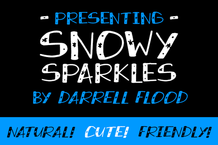 Snowy Sparkles Font