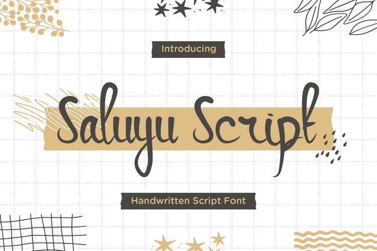 Saluyu Script Trial Font