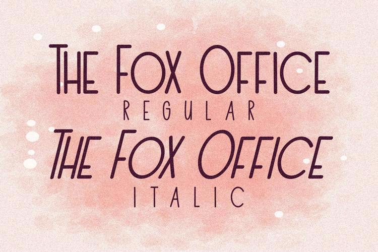 The Fox Office Font