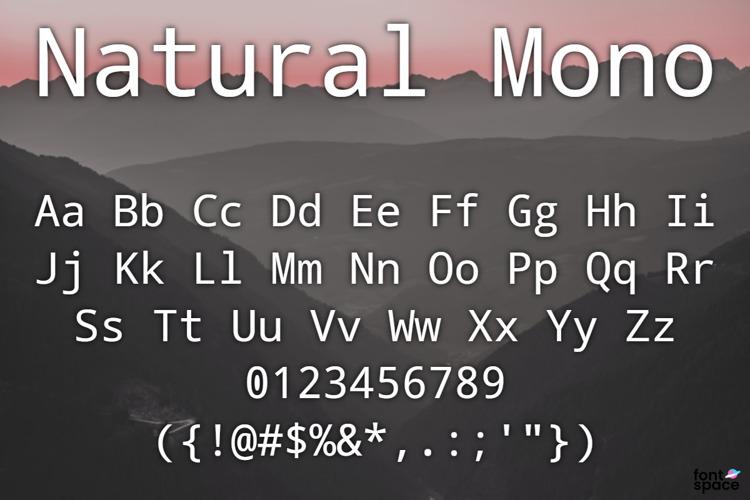 Natural Mono Font