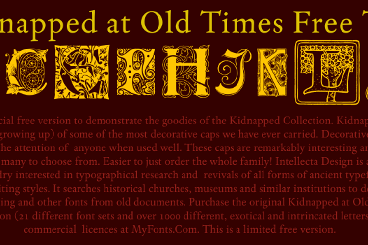 Kidnapped At Old Times Free Two Font