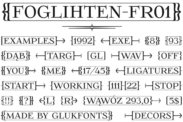 FoglihtenFr01 Font