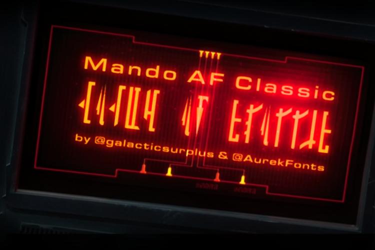 Mando AF Classic Font
