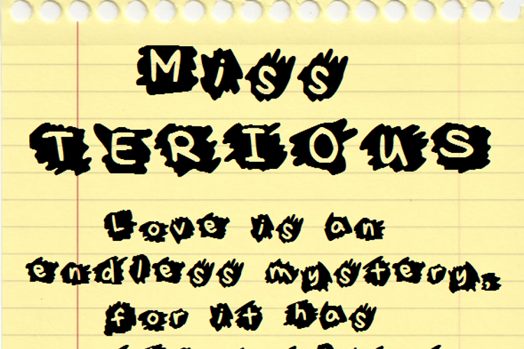 MissTerious Font