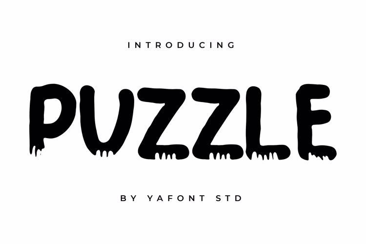 PUZZLE Font