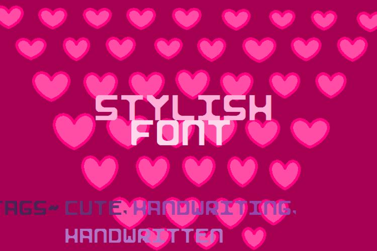 Stylish I Font