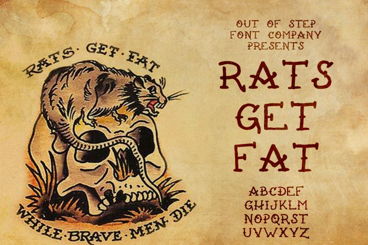 Rats Get Fat Font