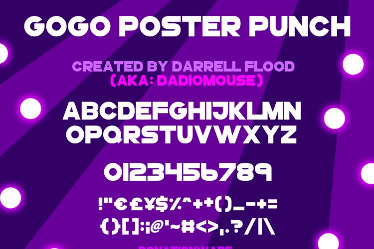 GoGoPosterPunch Font