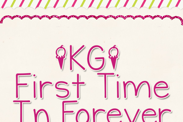 KG First Time In Forever Font