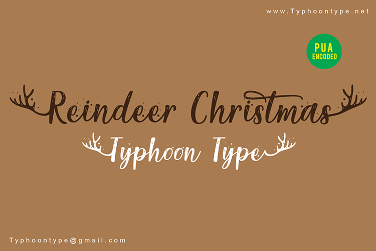 Reindeer Christmas Font