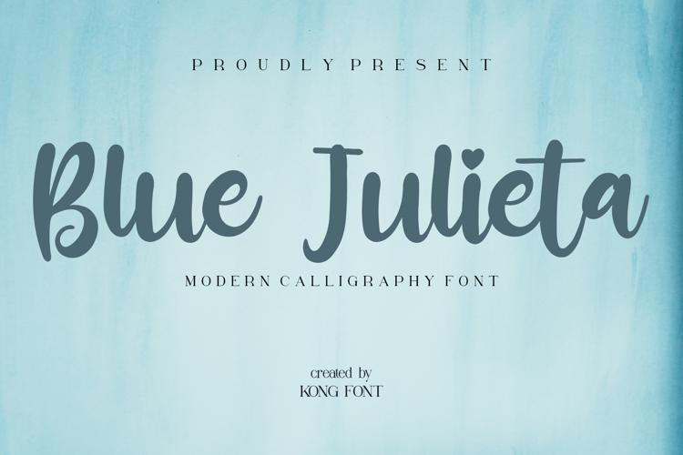 Blue Julieta Font