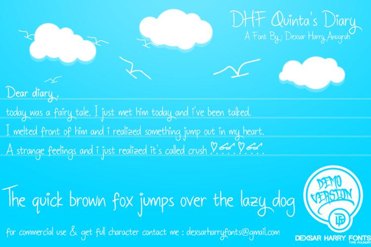 DHF Quinta's Diary Font