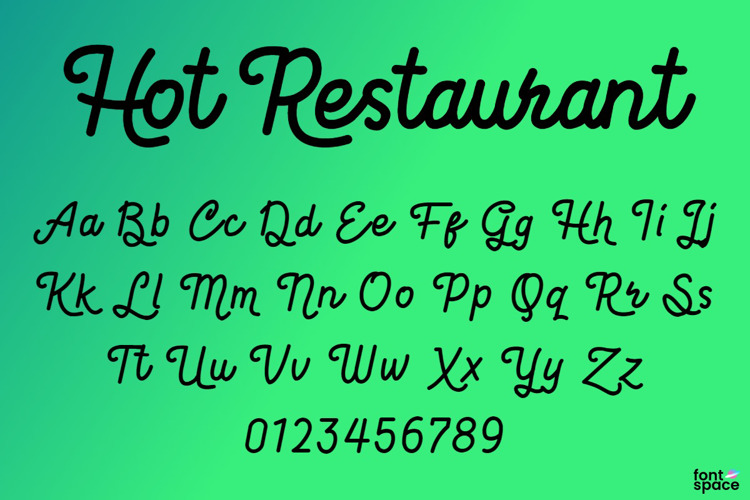 Hot Restaurant Font