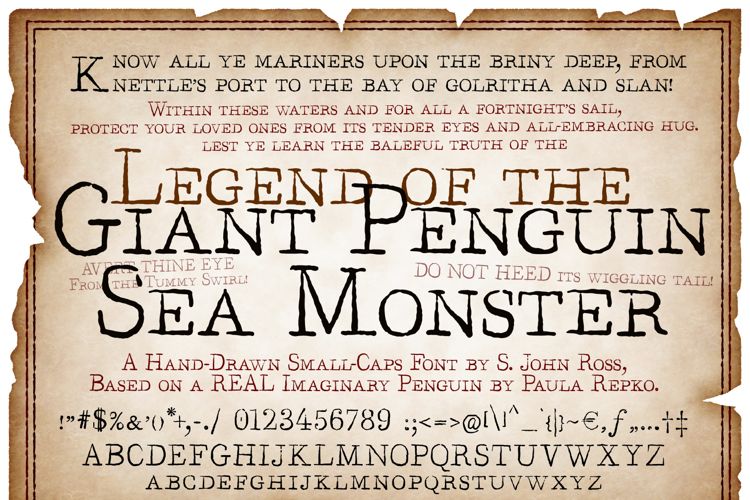 Legend of the Giant Penguin Sea Font