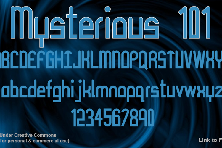 Mysterious 101 Font