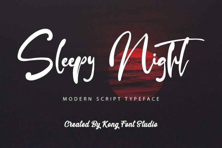 Sleepy Night Font
