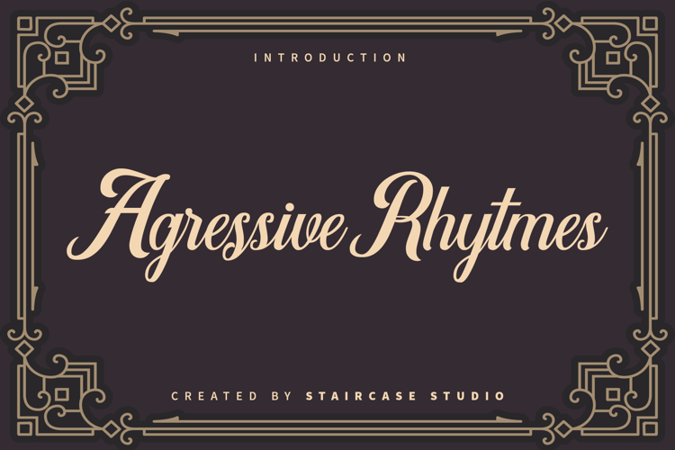 Agressive Rhytmes Font
