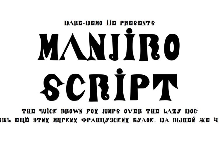 ManjiroScript Font
