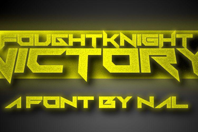 FoughtKnight Victory Font