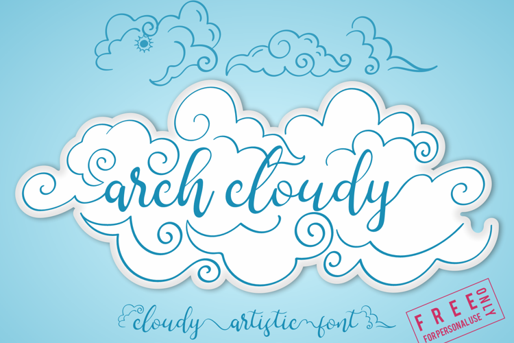 arch cloudy Font