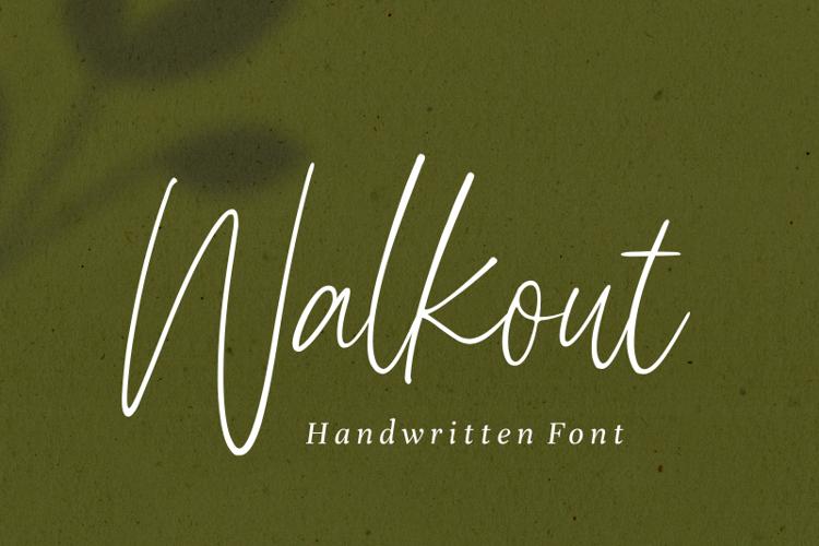 Walkout Font