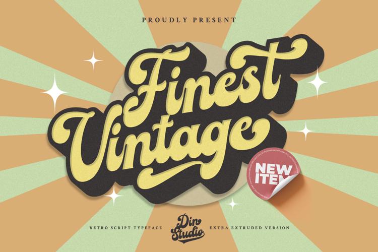 Finest Vintage Regular Font