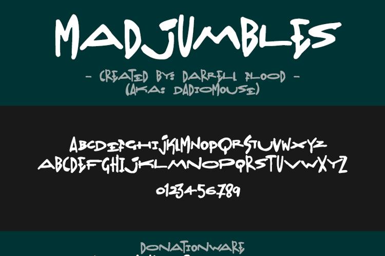Madjumbles Font