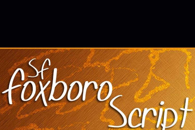 SF Foxboro Script Font