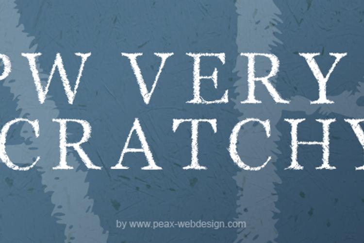 PWVeryScratchy Font