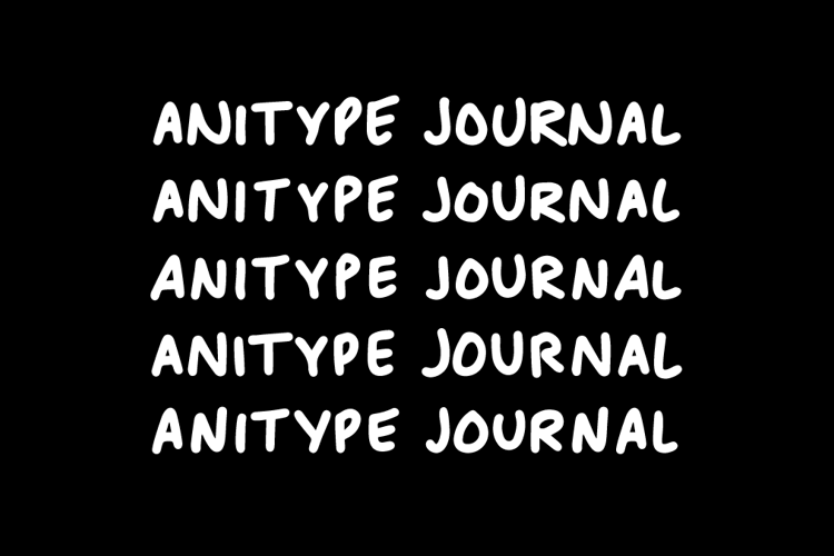 Anitype Journal Font