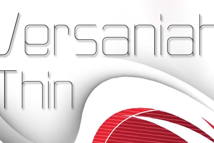 Versaniah_Thin Font