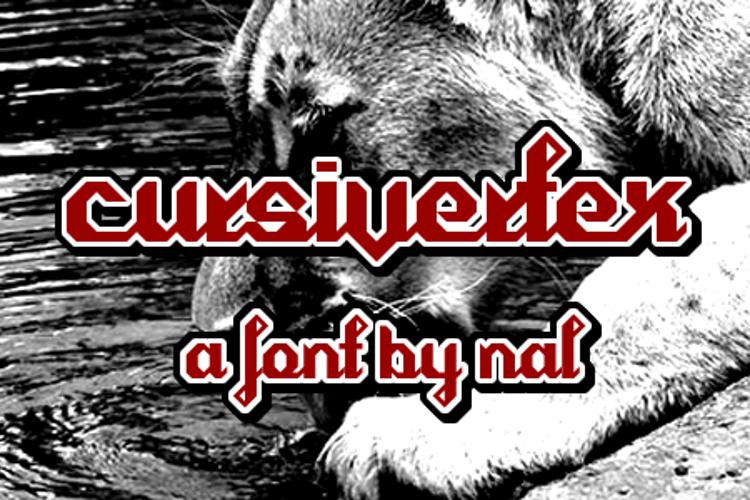 Cursivertex Font