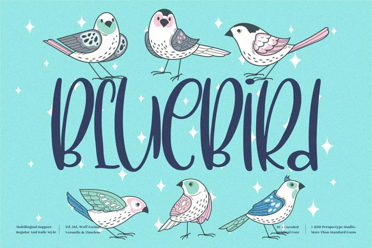 Blue Bird Font