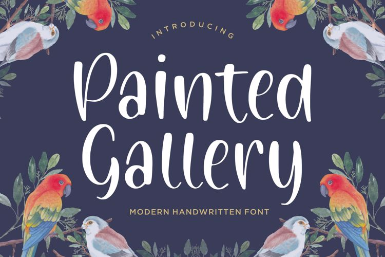 Painted Gallery Font