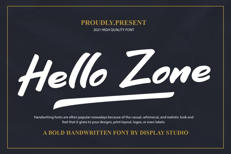 Hello Zone Font