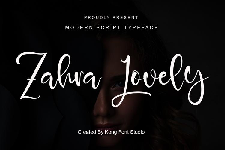 Zahra Lovely Font