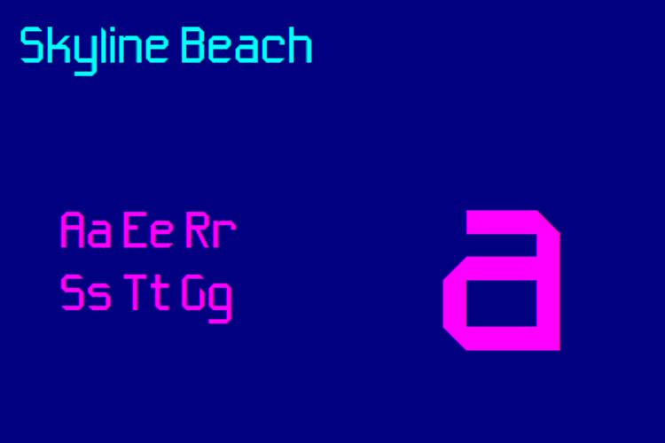 Skyline Beach NBP Font