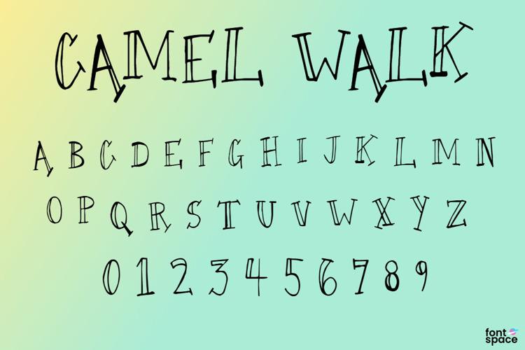 Camel Walk Font