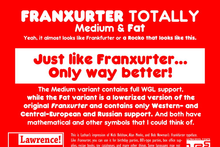 Franxurter Totally Font