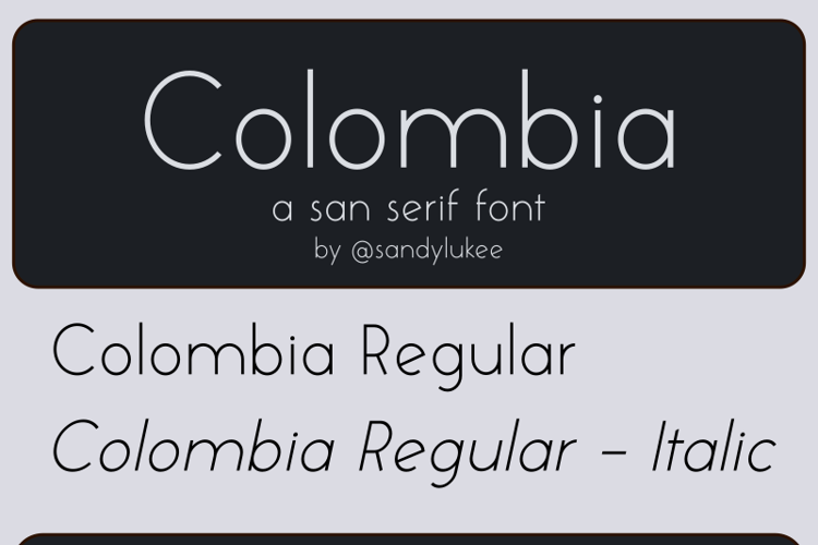 Colombia Font