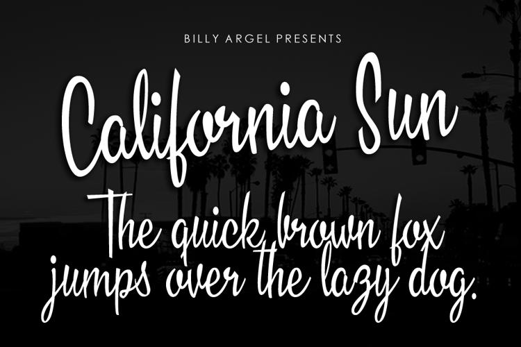 California Sun Font