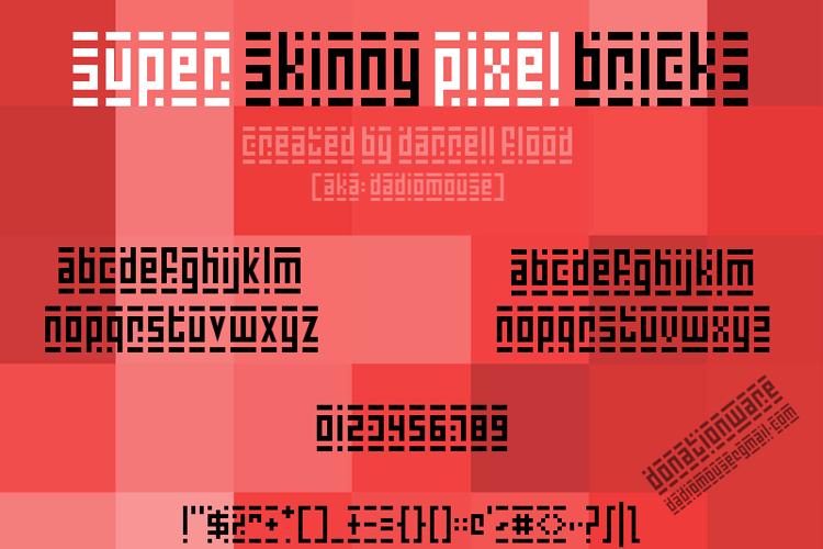 Super Skinny Pixel Bricks Font