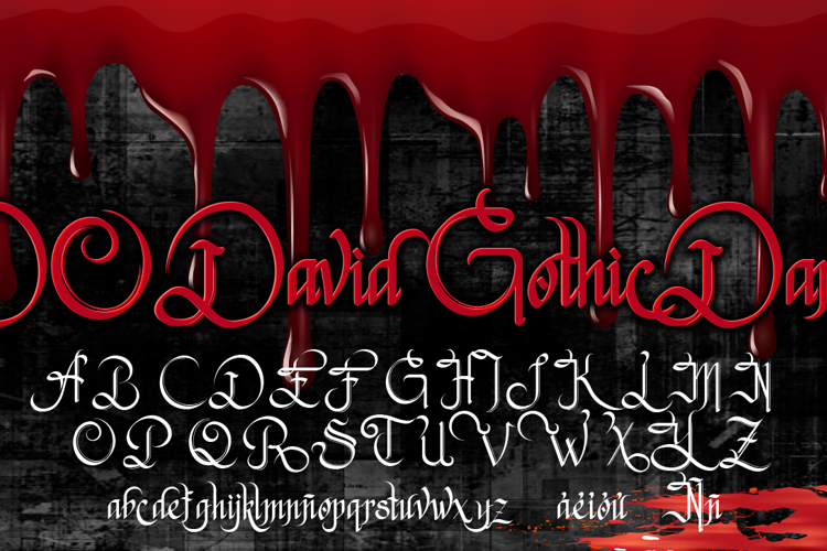 DO David Gothic Dark Font