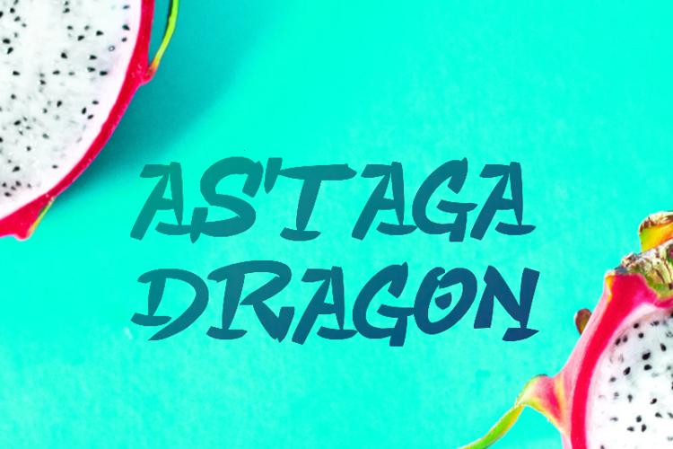 a Astaga Dragon Font