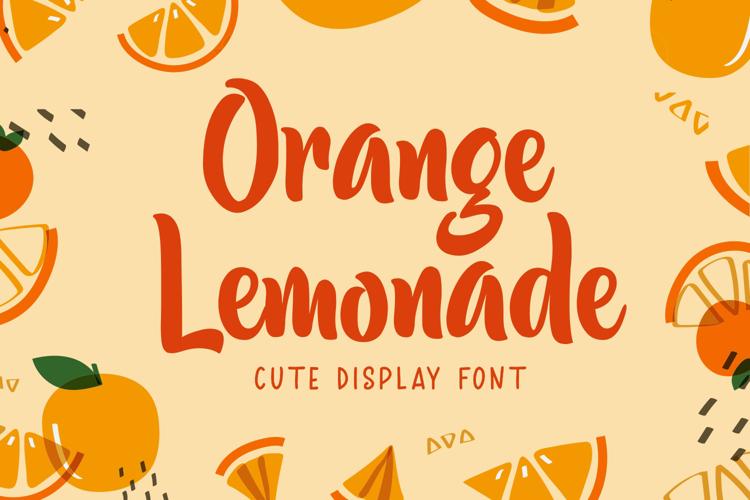 Orange Lemonade Font