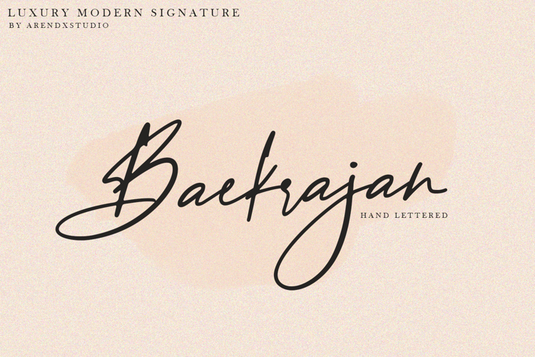 Baekrajan Font