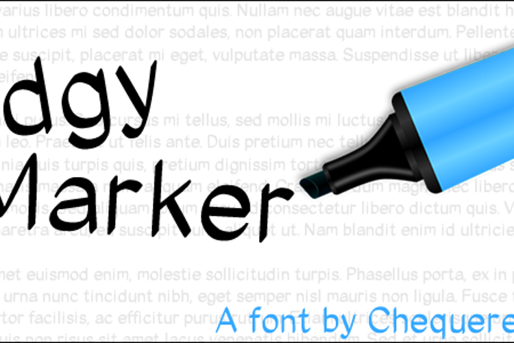 Edgy Marker Font