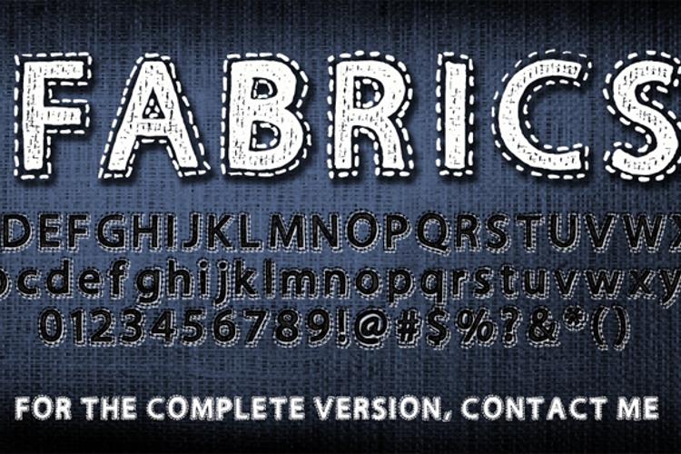 Fabrics Font